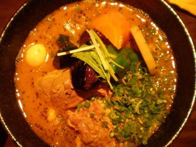 じっくり煮込んだラム肉とblue herbのカリー オクラトッピング スープ@yellowさん