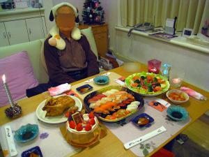 クリスマスなのに生寿司?