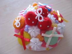 苺とお花の楽園デコレーションケーキ