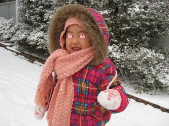 雪だ♪雪だ♪