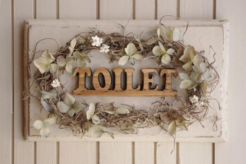 あじさいとデイジーのトイレドアプレート