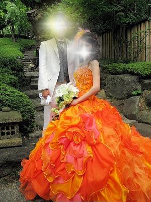カラードレス石畳