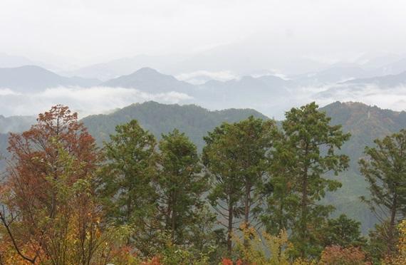 山頂からの山々