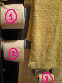 トイレットペーパー3個