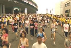 走り始めた東京ビックシティーマラソン