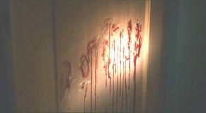 壁に血で書かれた文字