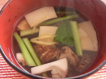 20110111 松茸のお吸い物