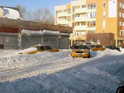 イエローキャブと雪