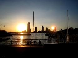 ニュージャージー州の夕日