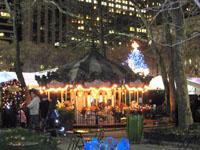 BryantParkのカルーセルとクリスマスツリー1