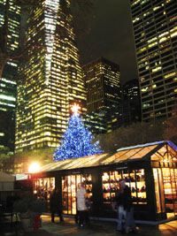 BryantParkのカルーセルとクリスマスツリー2