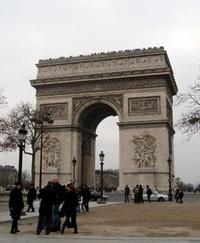 エトワール広場の凱旋門