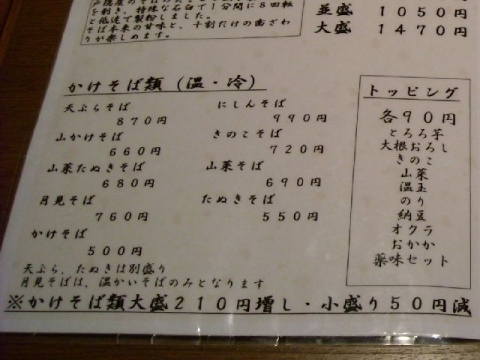 ぼっち・メニュー3