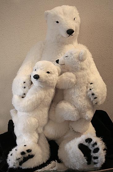 白クマ親子1