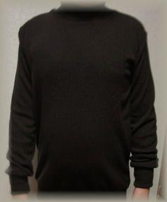 子供こげ茶のセーター着画