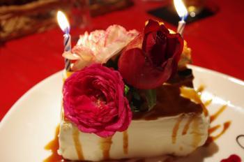 生花ケーキ