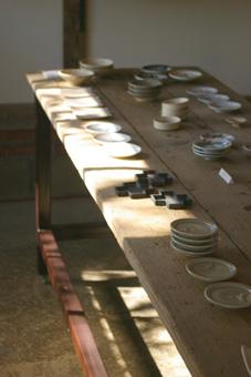 ラボ台豆皿