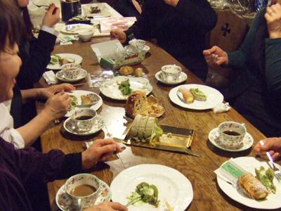 教室後のお茶会