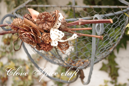 ハンドメイド福袋*木の実の壁飾り
