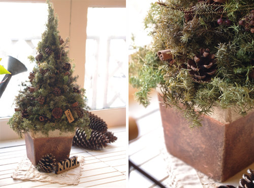 Cloveテイストのクリスマスツリー*モスグリーン