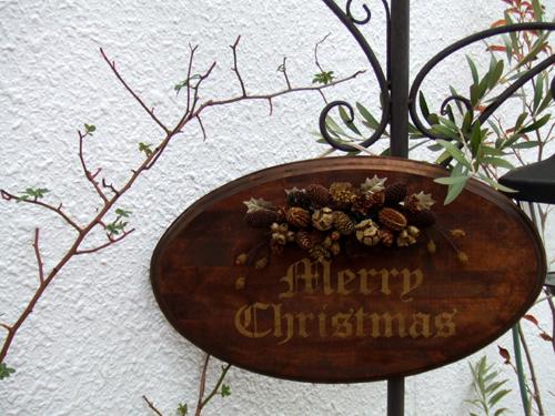 クリスマス ウッドボード