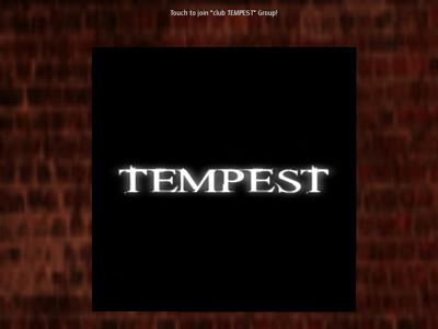 club TEMPESTグループ案内オブジェクト(ロゴ)