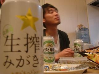 イケメンとビール