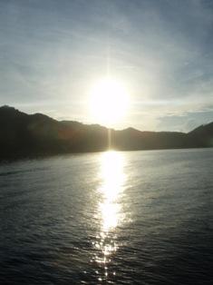 お天気タオ島の朝日