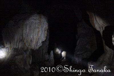 ラオス、バンビエンの洞窟
