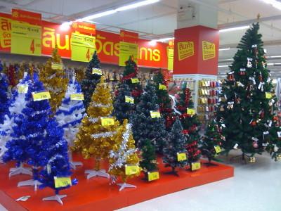 クリスマスツリー、カレフール