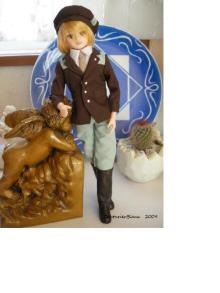 布とドールの小さな魔法-乗馬服風シャルル