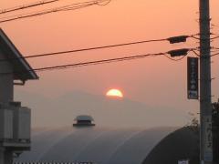 二上山の日没