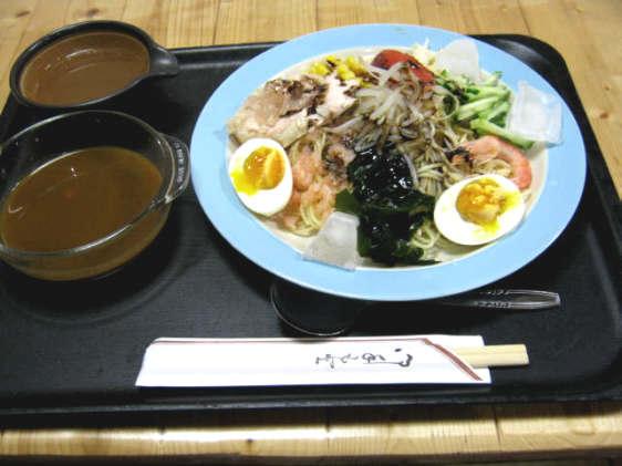 おかだ冷やしカレーらーめん(つけ麺)20100626