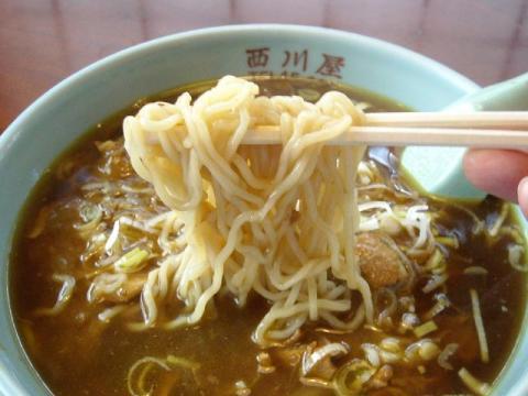 西川屋・カレーソバ麺