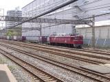 CX1で撮影したEF81 97号機牽引の貨物列車。(リサイズ画像)