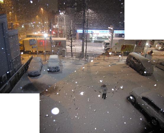 雪の駐車場20120123~1
