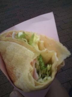 ハム野菜クレープ