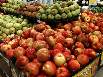 ワックスたっぷりのリンゴ