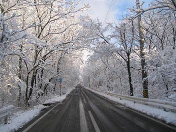 12月4日雪道