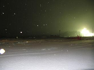 夜のゲレンデ