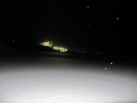 ゲレンデの夜景