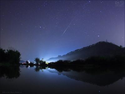 彦星と織姫と流れ星