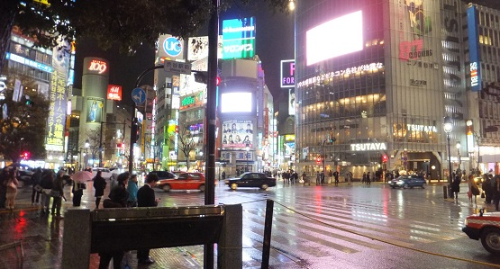 典型的渋谷の光景