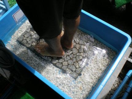 綺麗に足を洗う