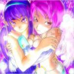 うりもきさんの天使と抱き合うポンピー