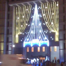 市役所前もクリスマスモード