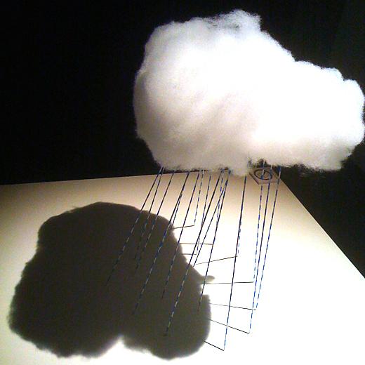 綿でできた雲