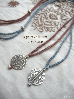 波紋カレンとリネンのネックレス1