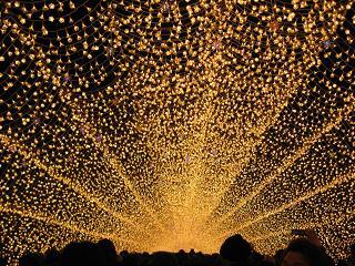 光の回廊の中