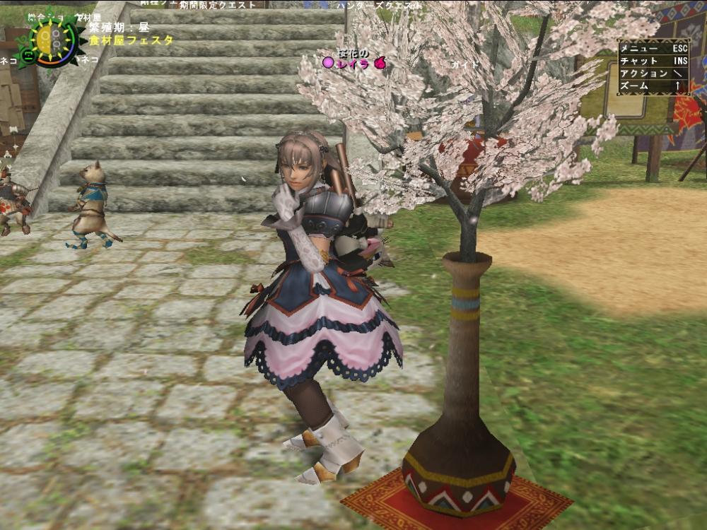 桜きれいにゃ~♪